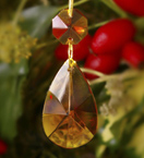 Small Faceted Drop Crystal Decoration