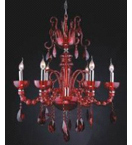Murano Glass Crystal Drop 8 Light Chandelier.