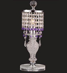 Coloured Crystal Drop Table Lamp