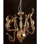 Hand Made 12 Branch Murano Style Chandelier