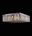 16 Light Clear Crystal Flush Chandelier