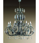 Antique Green Adele Design Chandelier