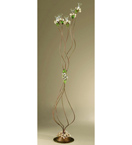 Roseto Design Floor Lamp With Painted Rose Details & Clear Glass