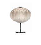 Arabesque Design Egg and Dart Style Glass Table Lamp