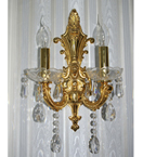 2 Lighter Crystal Wall Light