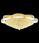 Surface Mounted Elegant 18 Light Crystal Chandelier