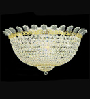 Surface mounted dome crystal chandelier