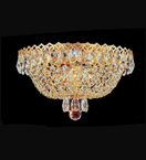 Flush Surface Mounted Crystal Chandelier