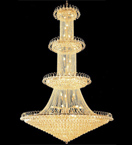 Elegant tiered crystal bowl chandelier