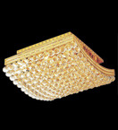 Surface mounted 12 light curved crystal chandelier